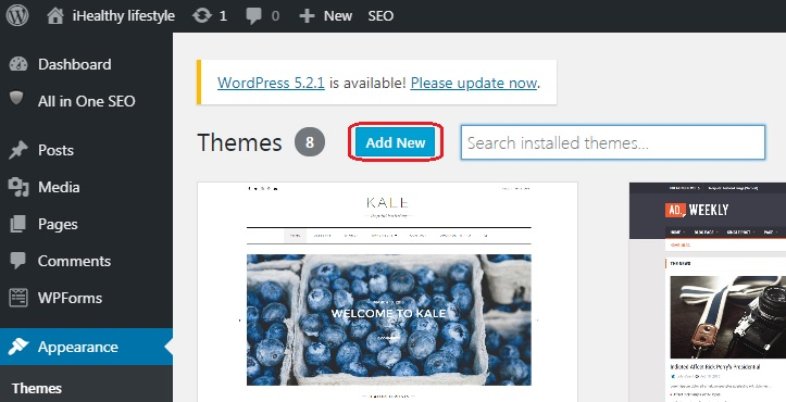 How to Change Themes in WordPress