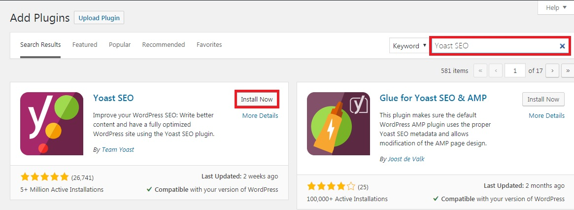Add Yoast SEO plugin